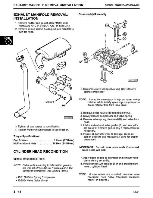 john deere tm1630 technical manual  4100 compact utility