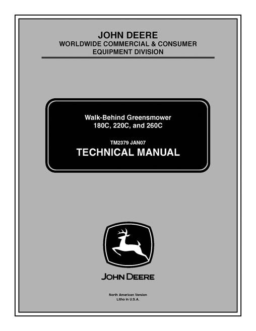 John Deere Tm2379 Technical Manual